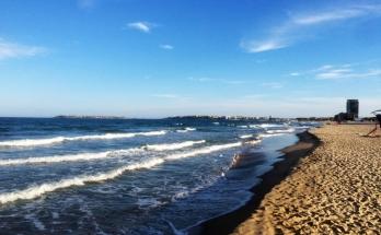 Морска гледка от плажа на Слънчев бряг