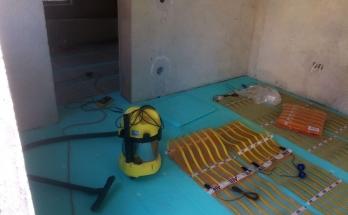 Монтаж на рогозки за електрическо подово отопление