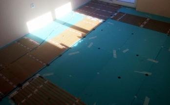 Подово отопление на ток монтирано в детска стая