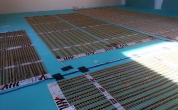 Електрическо подово отопление инсталирано в телевизионен кът