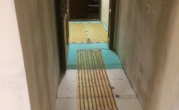Антре с електрическо подово отопление