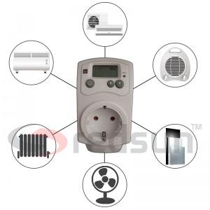 Дигитален термостат PLUG IN TH-810-T за включване в контакт и готов за употреба