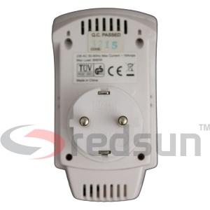 Дигитален стаен термоконтролер PLUG IN TH-810-T в гръб (отзад)