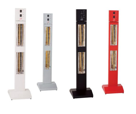 Мобилна стояща инфрачервена печка за отопление с две лампи и регулация на мощността