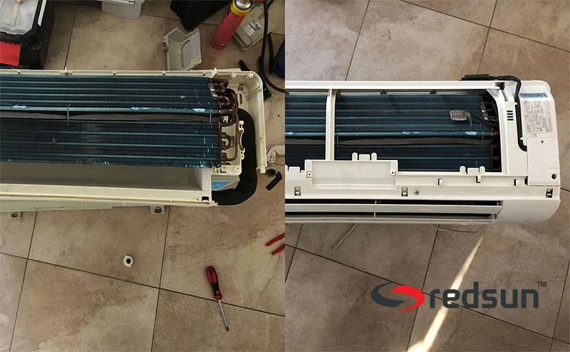Етапи от сглобяване на вътрешен агрегат на климатик Мидеа